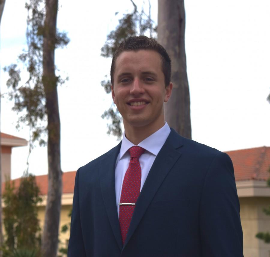 A.S. President candidate Harrison Baum