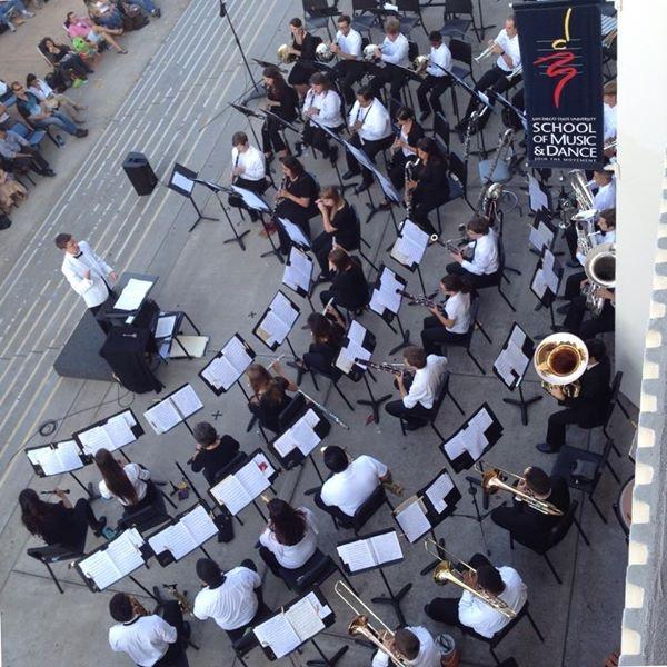 SDSU band member stands up for music education