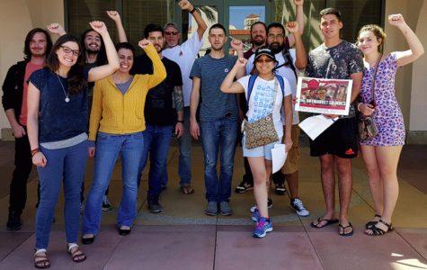 SDSU Grad Students demonstrate against administration behavior