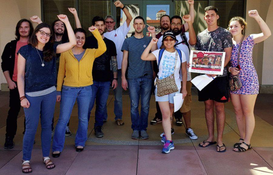 SDSU Grad Students demonstrate against administration behavior