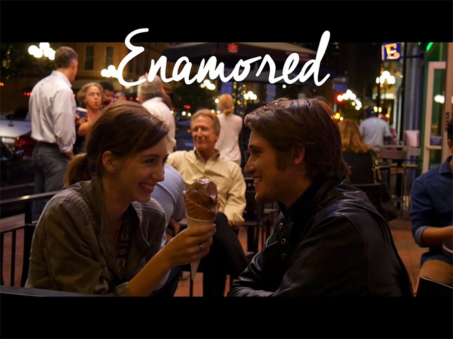 Students promote their film Enamored in Cannes
