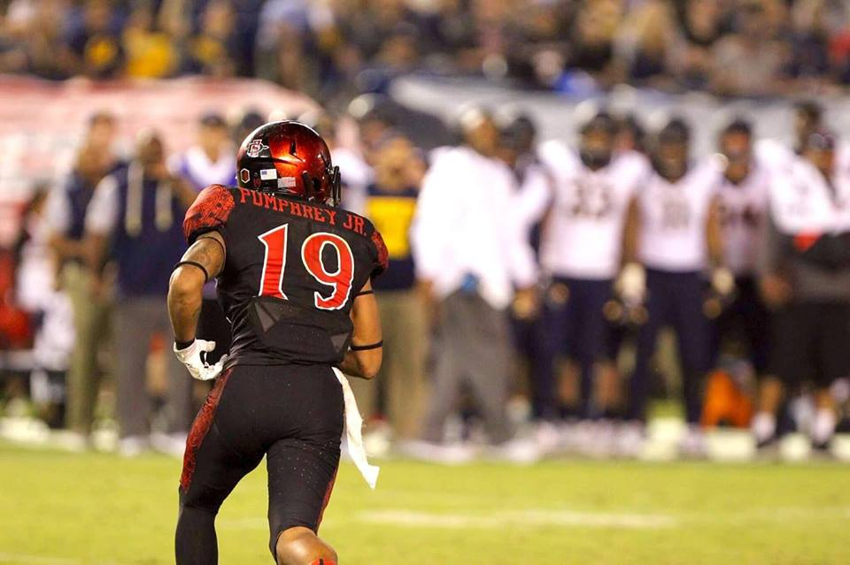 Senior running back Donnel Pumphrey during his record-breaking night against UCB.