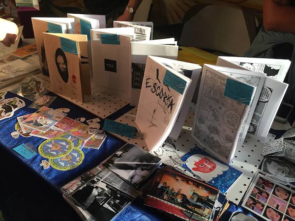 Comic books were  a popular form of zine at this year's festival.