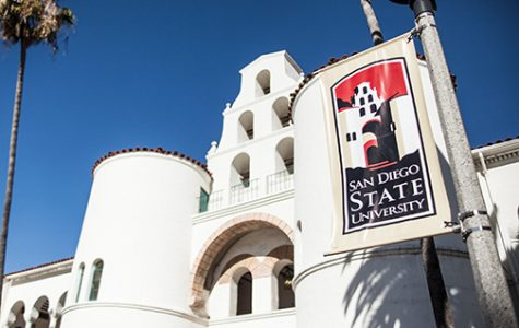 Close up photo of Hepner Hall at SDSU
