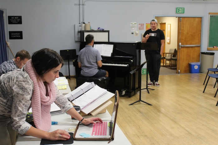 Aimee Holland at a rehearsal for upcoming play, Jesus Christ Superstar. Photo by Lilly Glenister.