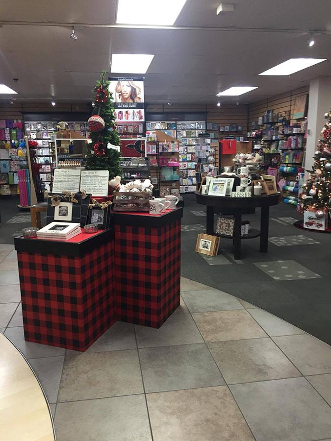Christmas decorations at the SDSU Bookstore on Nov. 10.
