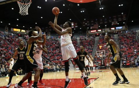 Aztecs ride hot start to easy 73-41 win over Alabama State