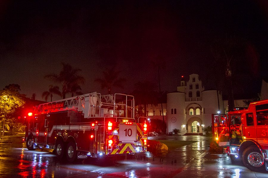 Fire near Hepner Hall causes evacuations