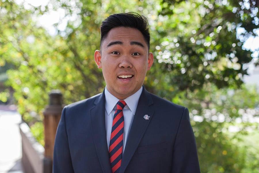 Associated Students Vice President of University Affairs candidate Michael Kumura