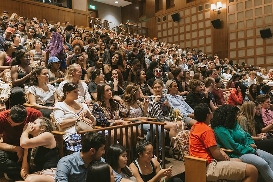 Montezuma Hall was packed with students at Campus Movie Fest's student film screening on Oct. 26.