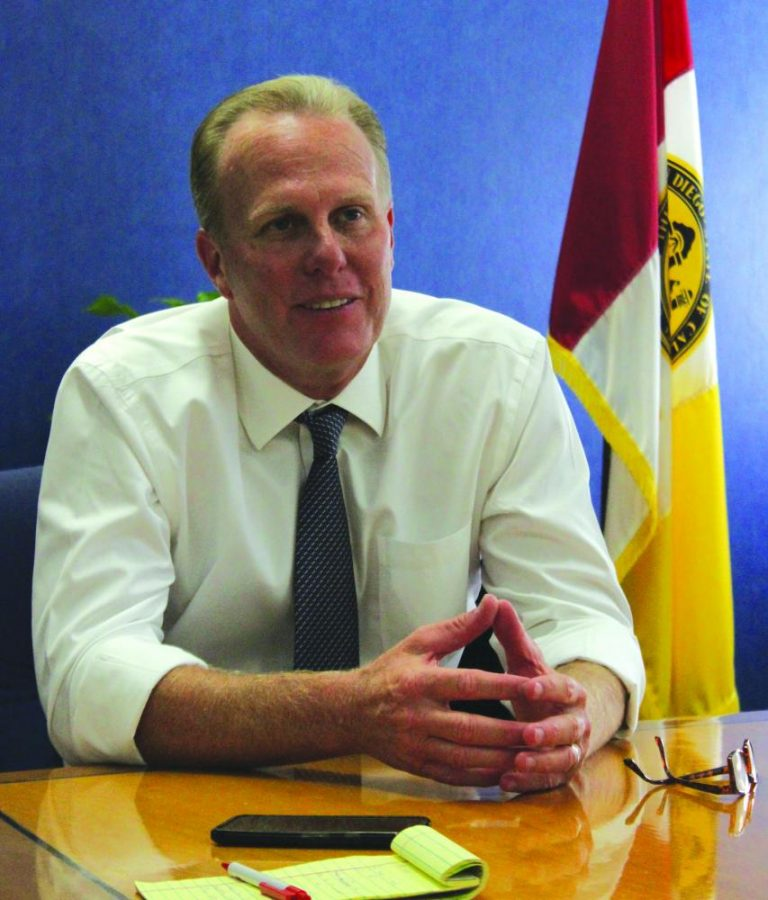 Editor in Chief Andrew Dyer interviewed San Diego Mayor Kevin Faulconer Sept. 22.