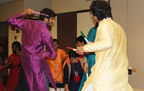SDSU students at a Garba Night celebration. Photo courtesy of Akarsh Kain.