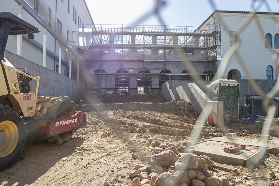 Construction continues at San Diego State University.