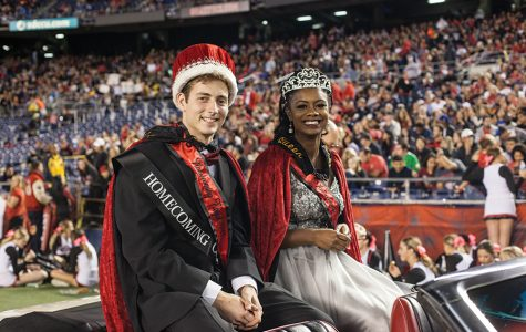 Applied mathematics senior Ryan LaMar and kinesiology senior Charmagne Jones were crowned this year's homecoming royals Oct. 21.