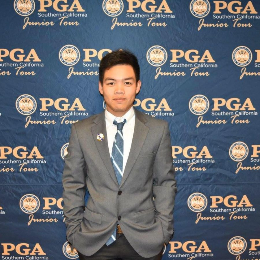 Freshman golfer Puwit Anupansuebsai poses for a picture during the 2016 PGA Southern California Junior Tour.