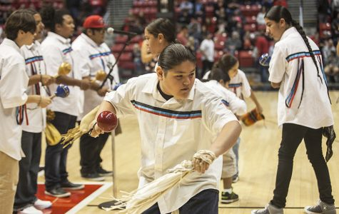 'Native American Heritage Month' event held at basketball game amid mascot controversy