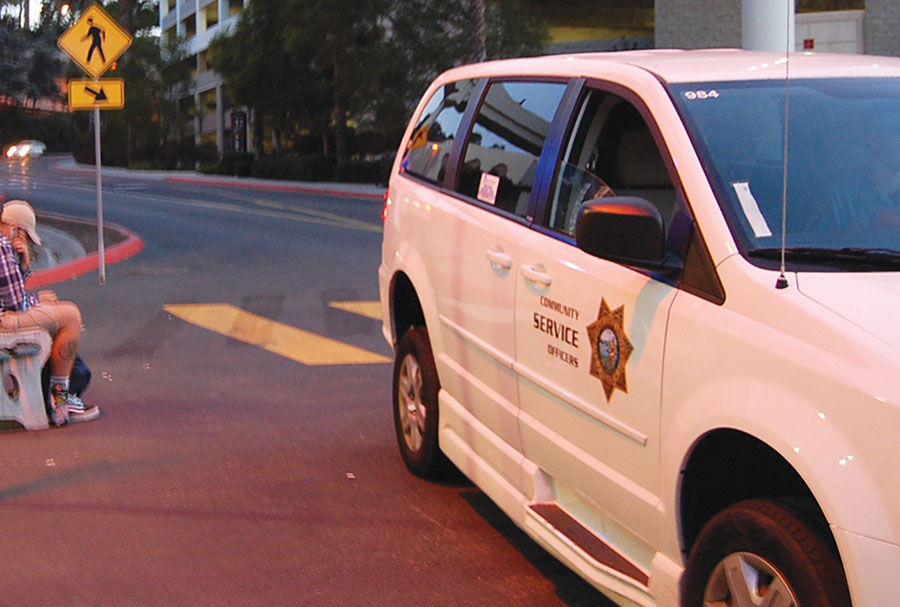 University police are promoting the red and black shuttle service after previous problems with usage levels.