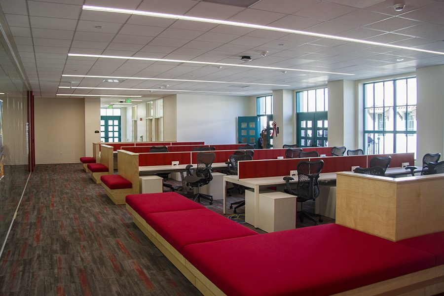 Workspaces in the new EIS Complex. Photo by Andrew Dyer