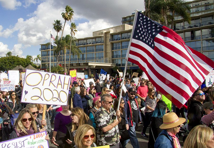 More than 37,000 joined in downtown San Diego in January 2018 for the second annual Women's March.