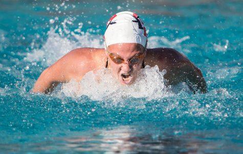 Senior swimmer prepares for final lap