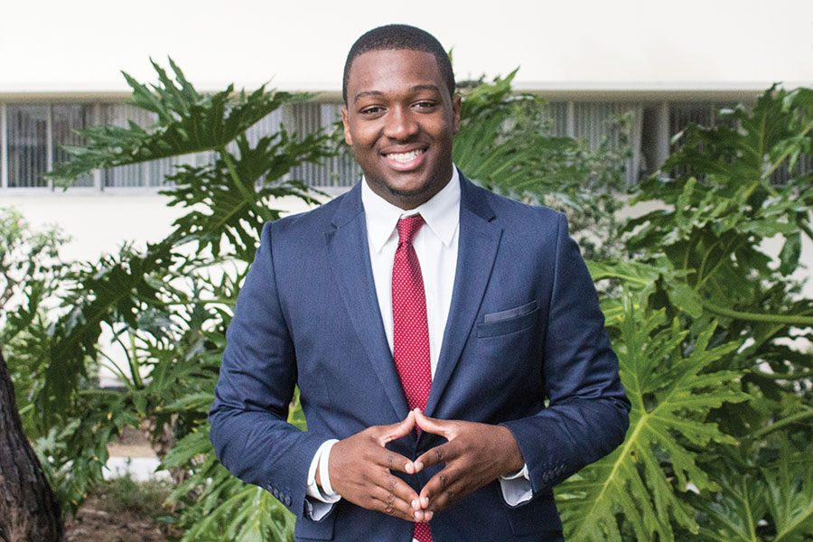 A.S. vice president of financial affairs candidate Christian Onwuka