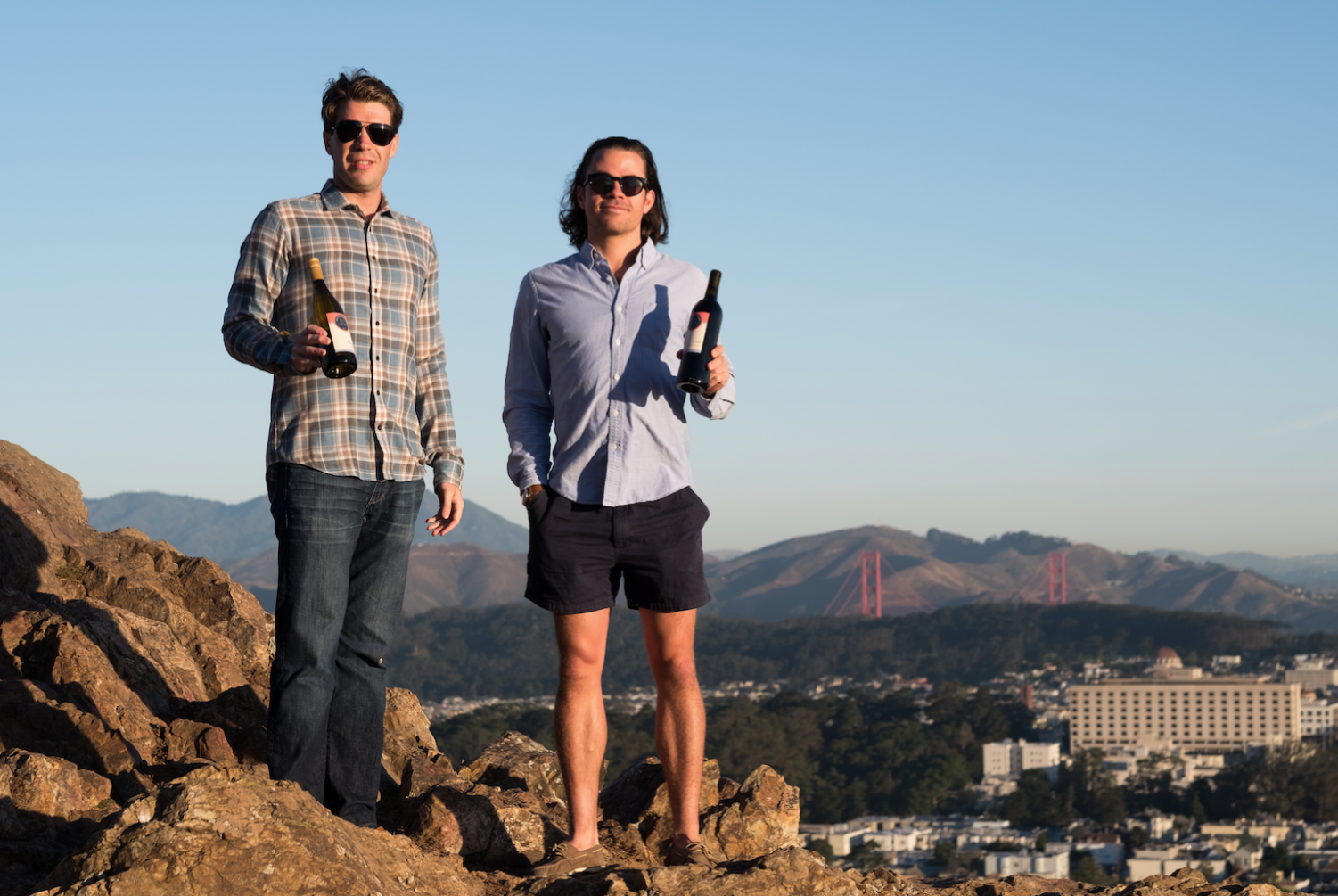 Founder and CEO Luc Bergevin (right), along with Chief Wine Officer and co-founder Martin Sheehan-Stross (left) started Foot of the Bed Wine Cellar in 2016 as a way to highlight Californian wines and share them with members.