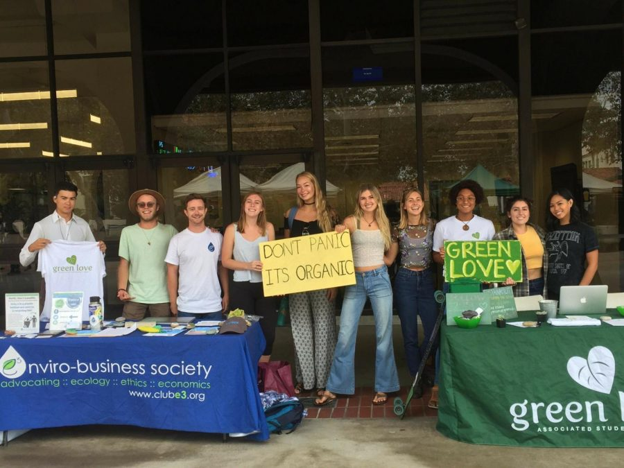 Members of the Enviro-Business Society and Associated Students GreenLove. Photo courtesy of Sabrina Laut.