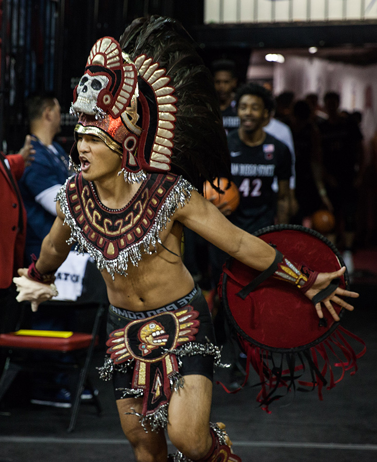 San Diego State's Aztec Warrior mascot – now to be called a