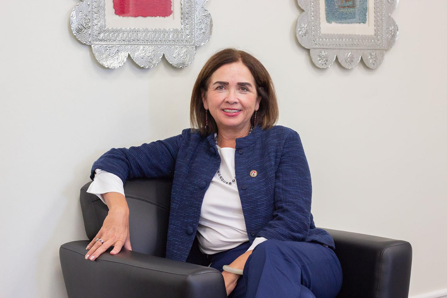 This semester marks President Adela de la Torre's first in the position.