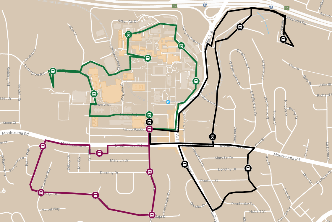 The Red and Black Shuttle will now service riders on three lines, some of which have off-campus stops.