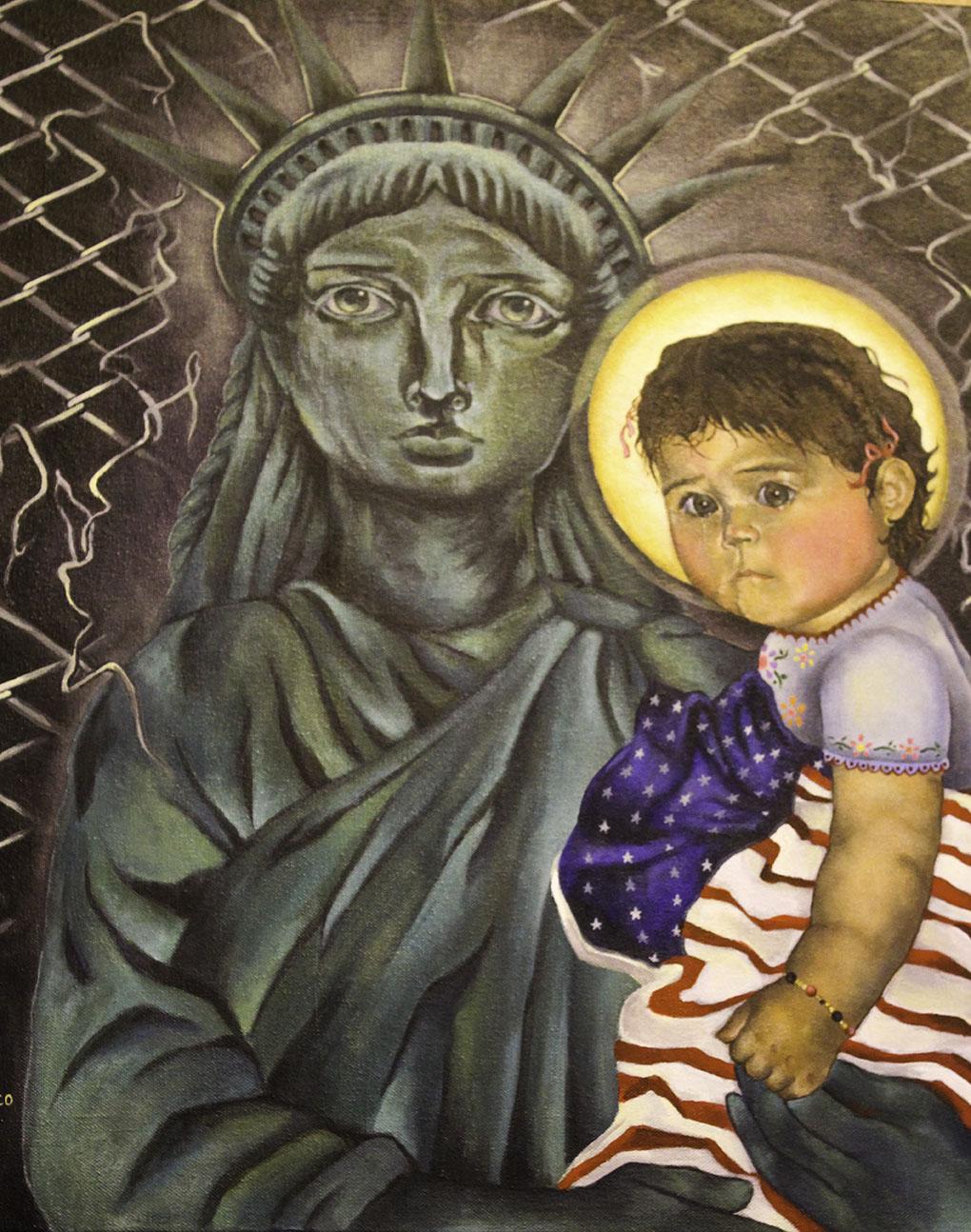 Pieza hecha debido a la reciente separación de niños migrantes de sus familias.