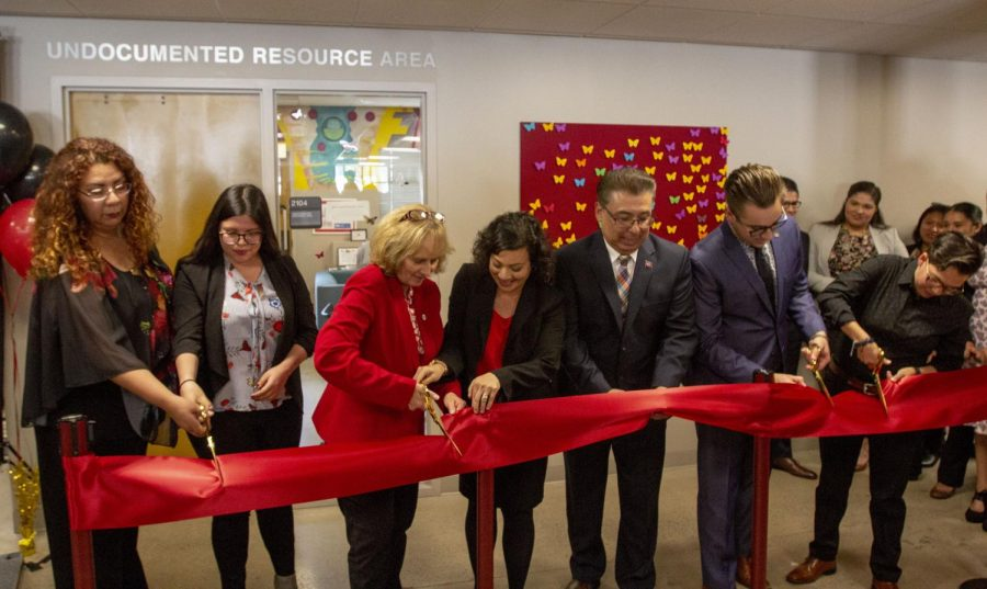 University officials celebrate the opening of the Undocumented Resource Area.