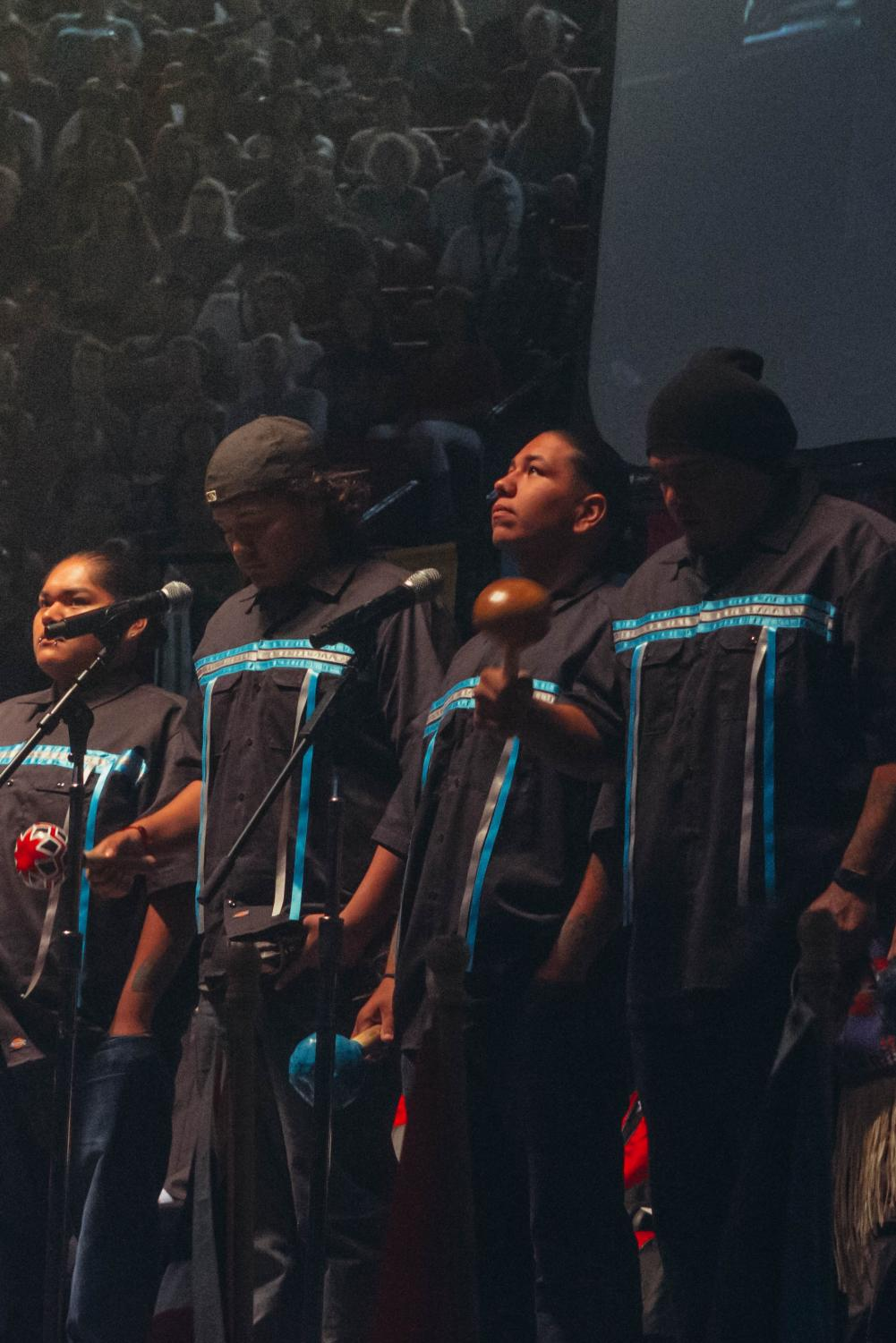 A Kumeyaay performance group was present at this year's freshman convocation.