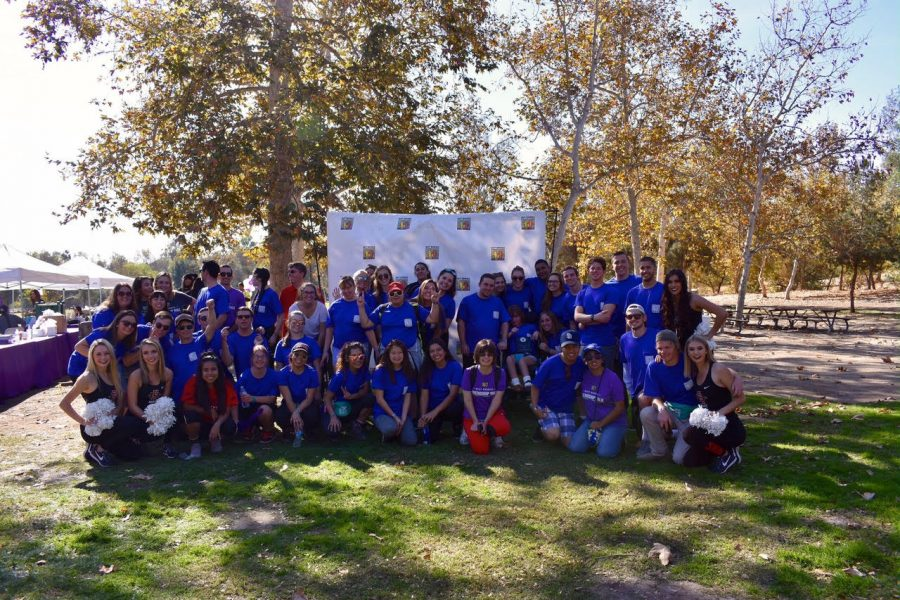 Members of SDSU's Best Buddies chapter pose for a group photo.