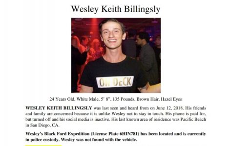 $3,000 reward remains for information regarding missing SDSU alumnus