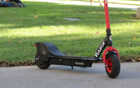 Dockless Razor scooters pop up on campus