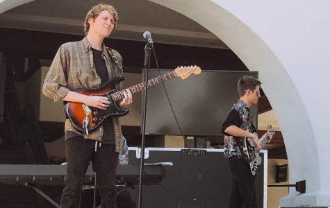 Student musician Thomas Frye performed in SDSU's live music series, Nooner.