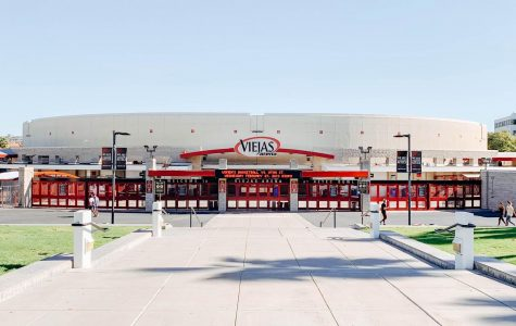 Viejas Arena opened on the west side of SDSU's campus in 1997.