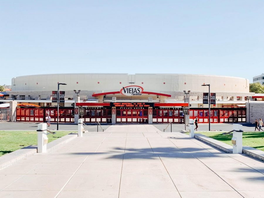 Viejas+Arena+opened+on+the+west+side+of+SDSU%27s+campus+in+1997.