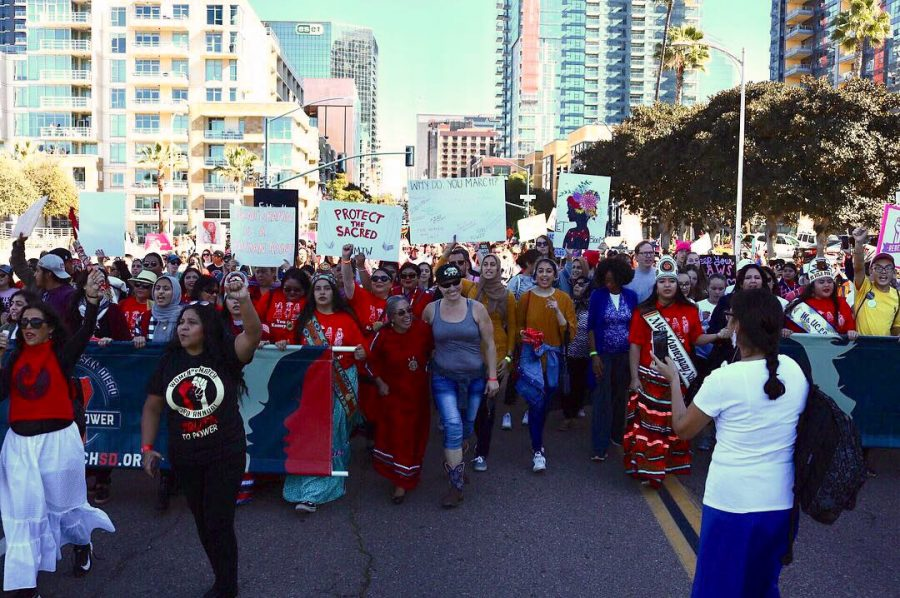 Thousands+met+up+in+downtown+San+Diego+on+Jan.+19+to+participate+in+the+third+annual+Women%27s+March.