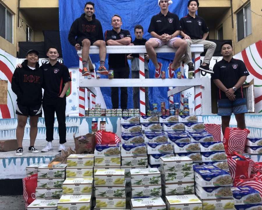 Interfraternity+Council+members+donated+3%2C266+pounds+of+food+to+Jacobs+and+Cushman+San+Diego+Food+Bank+at+the+end+of+the+fall+semester.