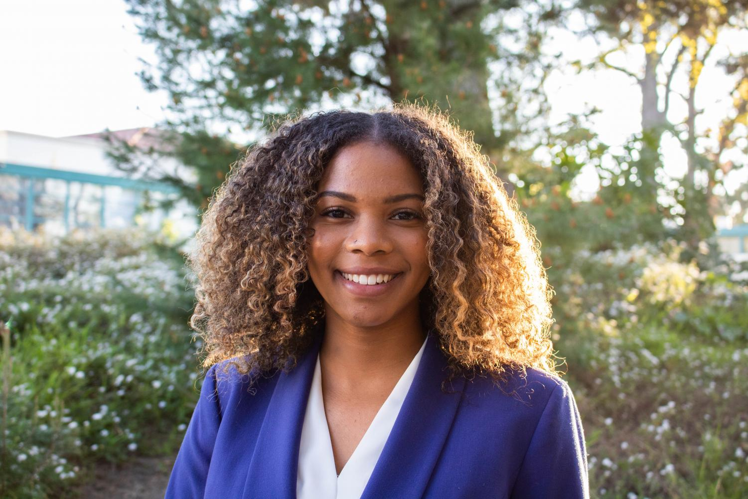 A.S. executive vice president candidate Kyla Blaylock.