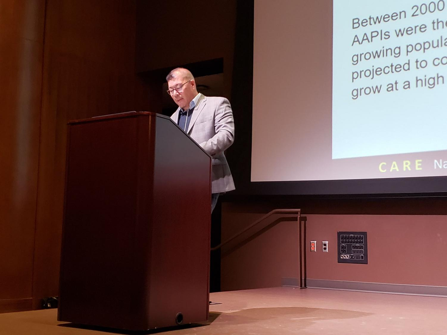 UCLA professor Robert Teranishi lectured in the Student Union theater on April 25.