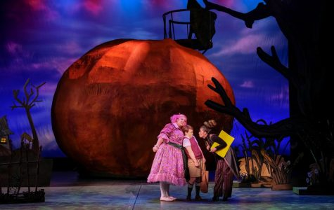 James (Emma Chassey) with his new, unexpected family in the Giant Peach.