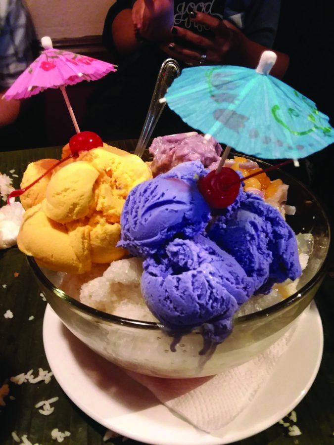 Ice cream from Villa Manila, a popular Filipino food destination in Chula Vista.