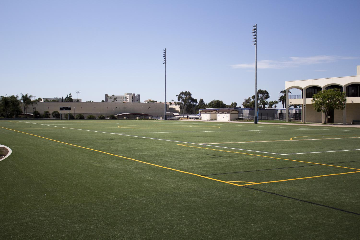San Diego State recently installed new turf and LED lighting at ENS 700.