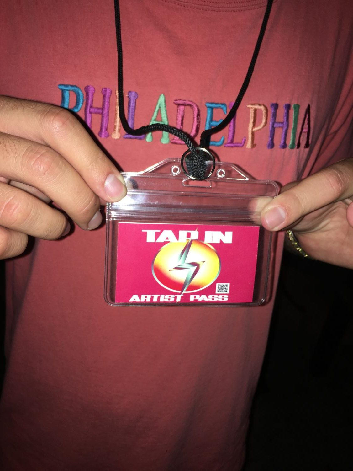 Musicians had special passes they wore all night. NateyZ performed with Quiet Child as a one night back in San Diego after graduation when they moved to Los Angeles.
