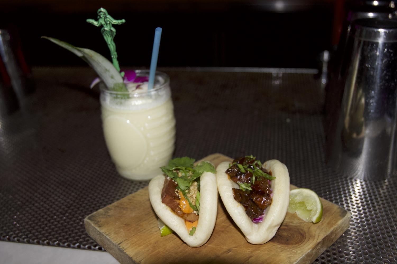 Pina colada and bao buns