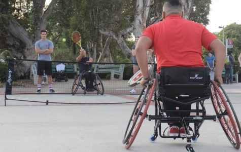 The Student Ability Success Center and Aztec Adaptive Sports co-hosted the Sports for All symposium outside Hepner Hall.