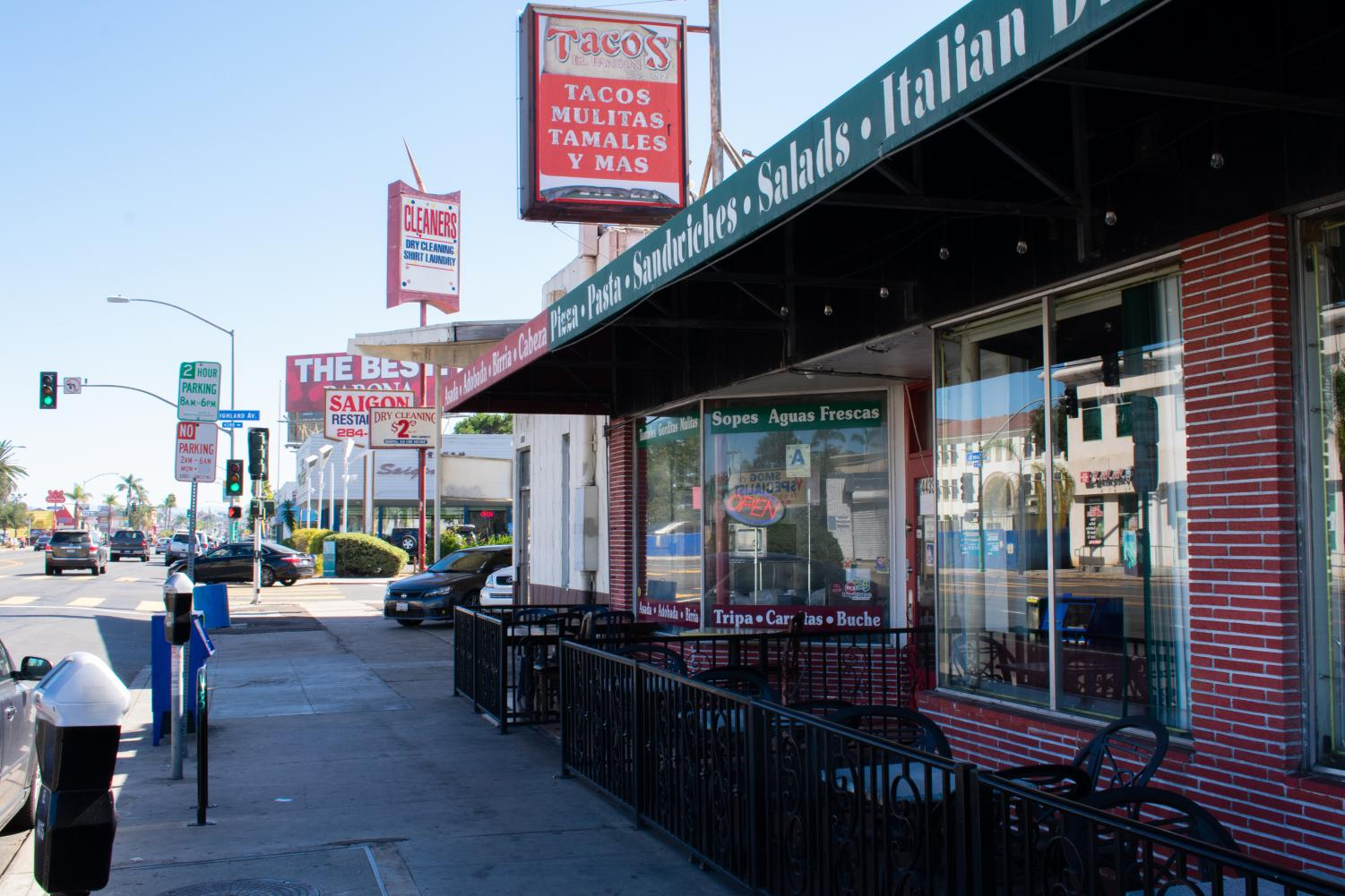 Tacos El Panson is located in the diverse neighborhood of City Heights.